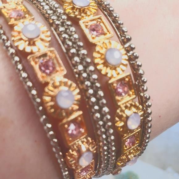 Set of 6 Stackable Bracelets